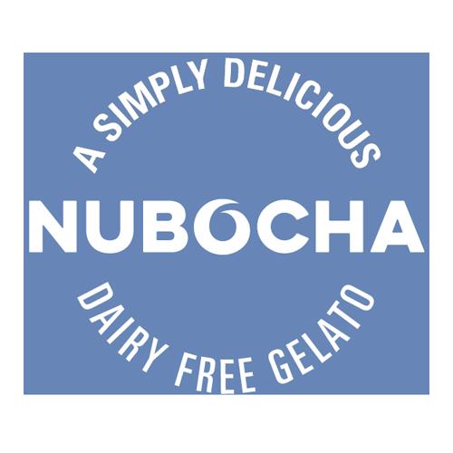 A simply delicious dairy free gelato, Nubocha logo