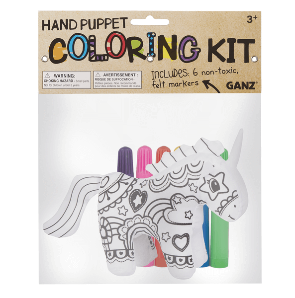 Hand Puppet Coloring Kit