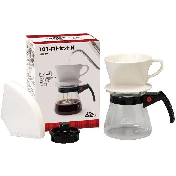 Kalita 101系列 1-2人用 陶瓷濾杯 滴漏咖啡壺組套裝 101 Ceramic Dripper Set N(含濾紙)