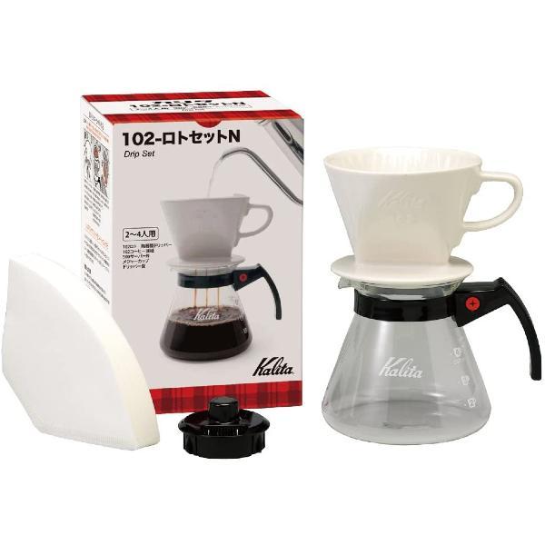 Kalita 102系列 3-4杯 陶瓷濾杯 滴漏咖啡壺組套裝 102 Ceramic Dripper Set N(含濾紙)