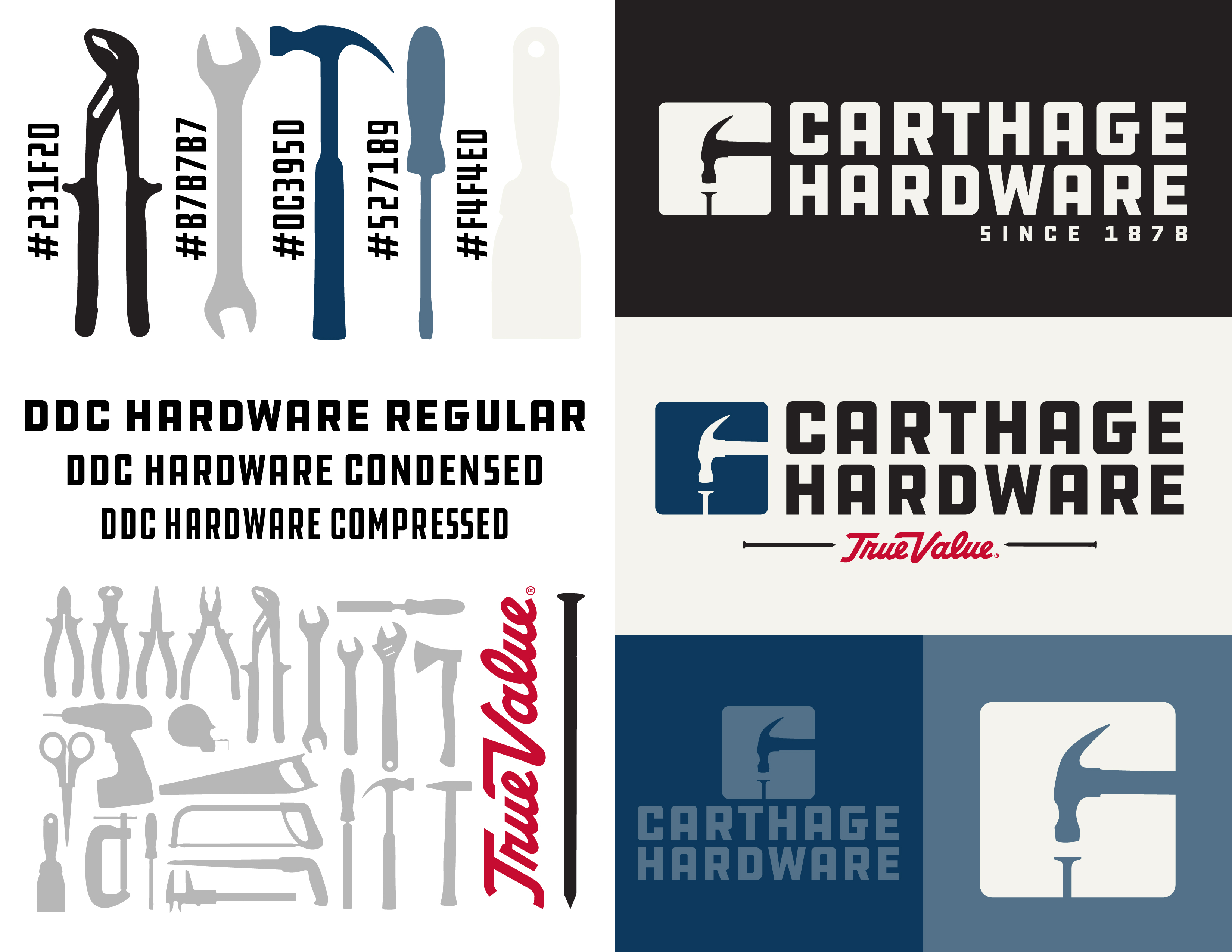 Carthage Hardware Brand Development logo design joplin mo