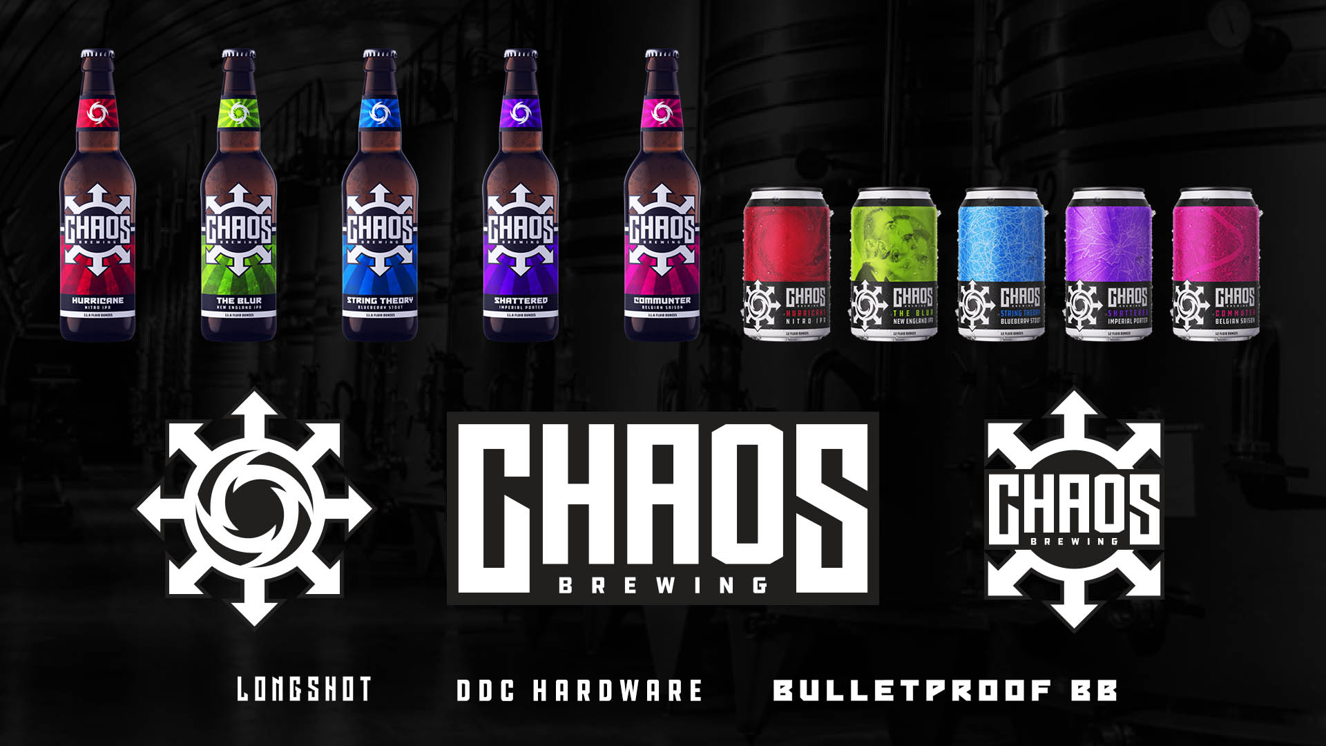 Chaos Brewing Joplin Missouri Brand Development logo design