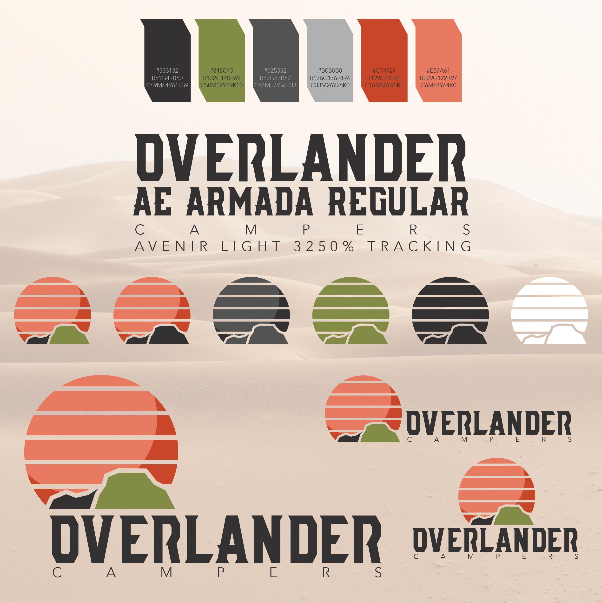 Overlander Campers Brand Development Logo Examples