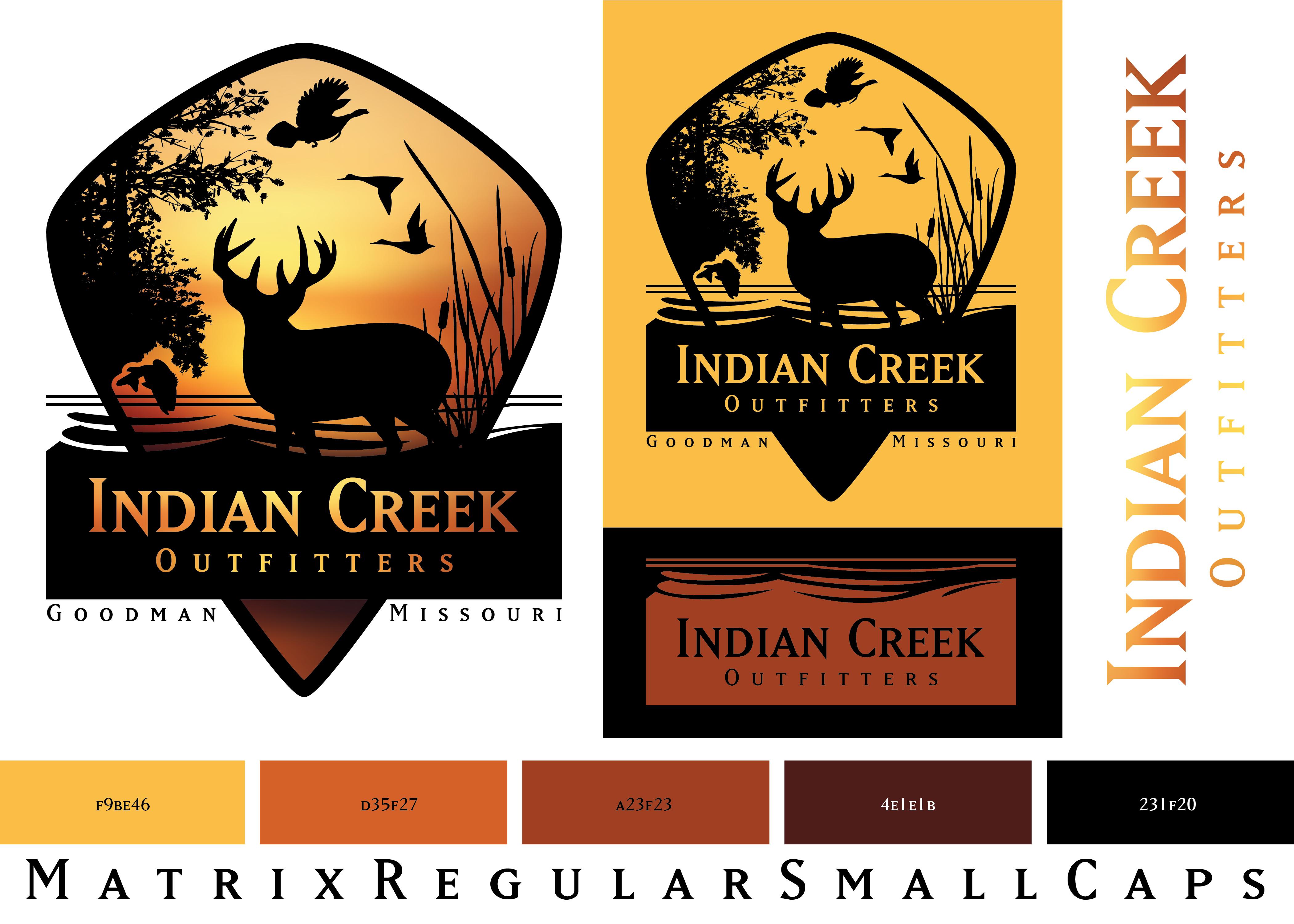 Indian Creek Outfitters Brand Development logo design