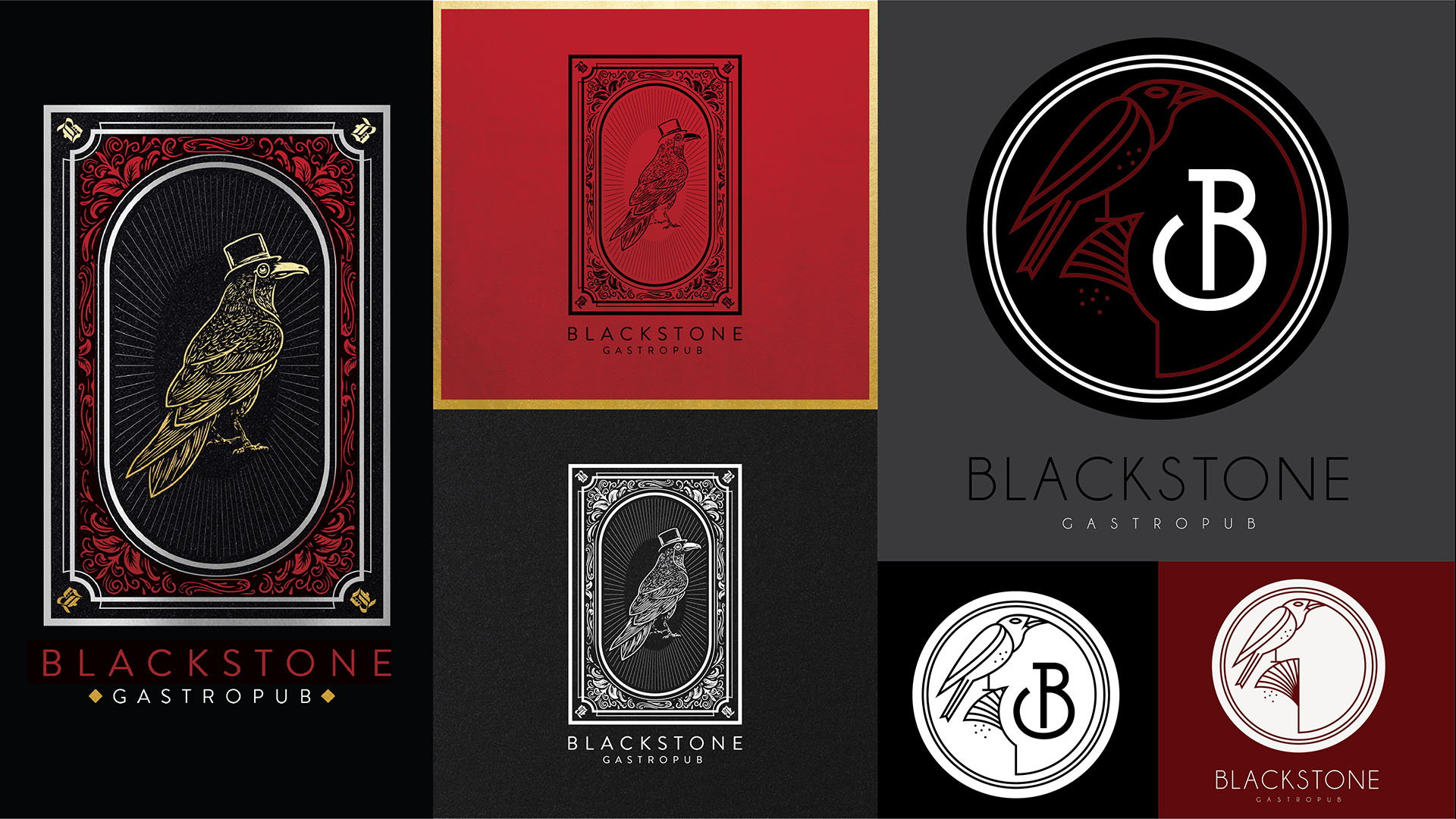 Blackstone Gastropub Brand Development Identity Design