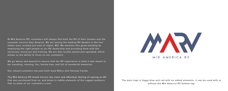 Mid America RV Brand Development logo design Joplin Mo