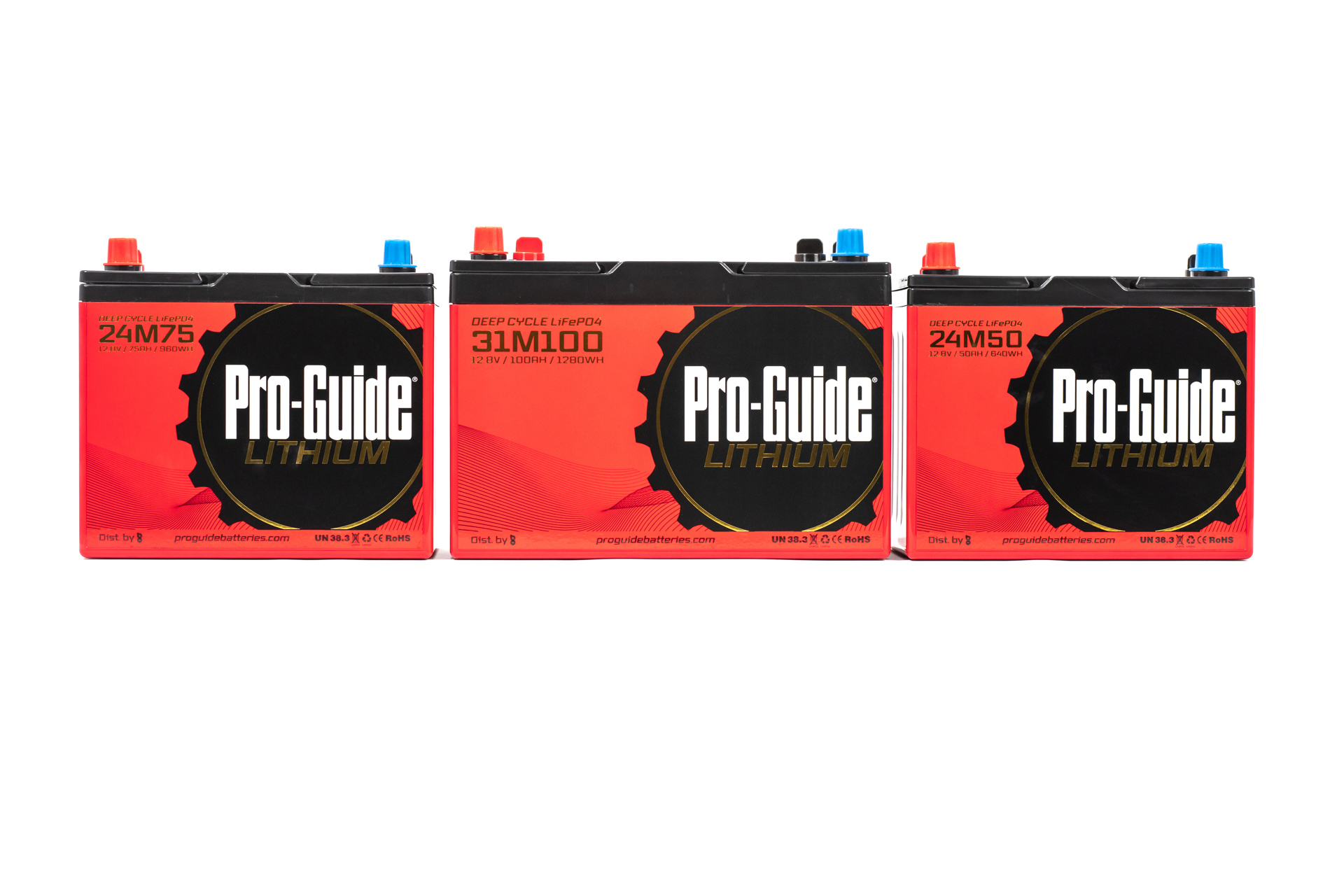 Pro-Guide Lithium Batteries Battery Outfitters Commercial Product Photography