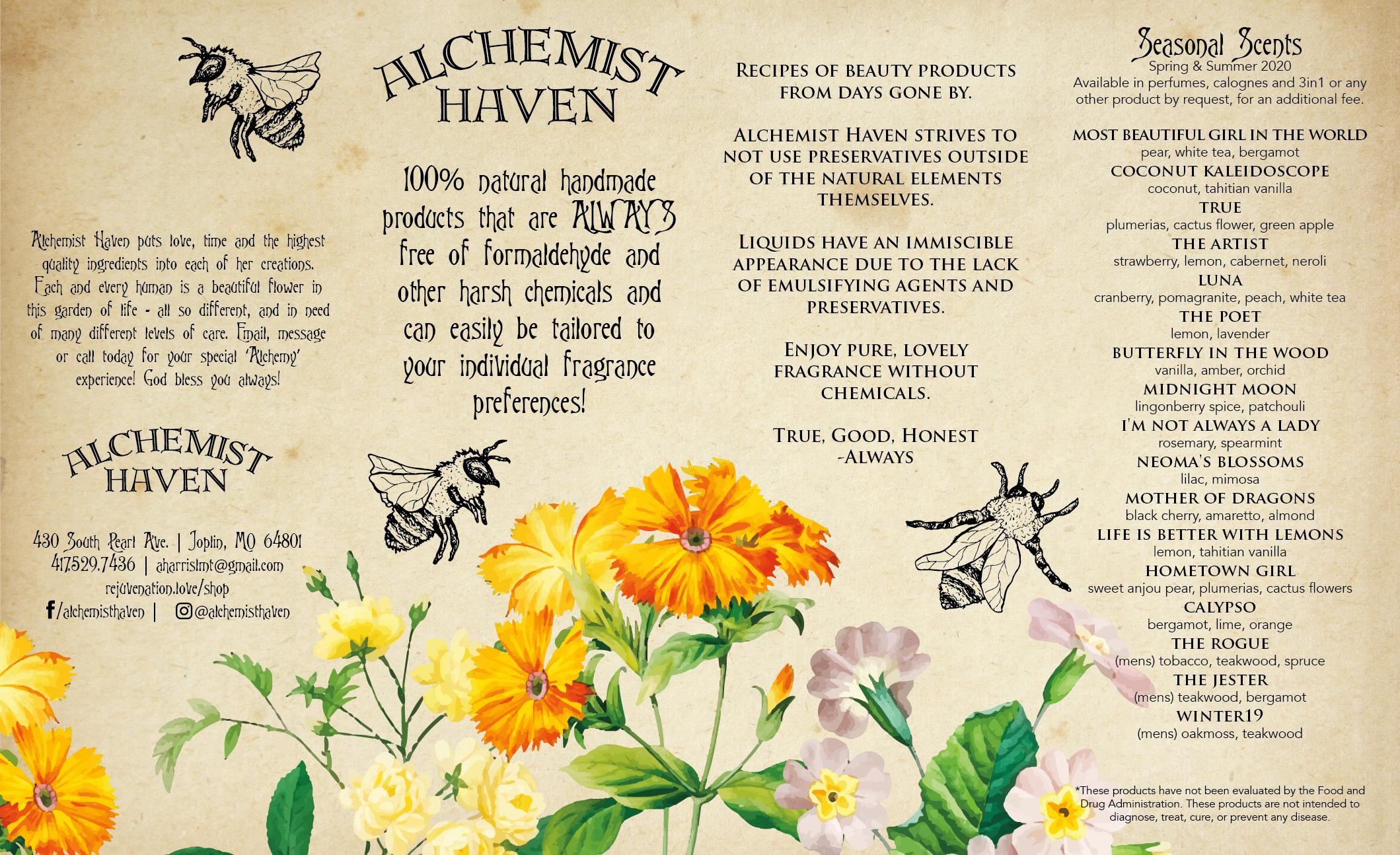 Alchemist Haven Brochure Inside Graphic Design