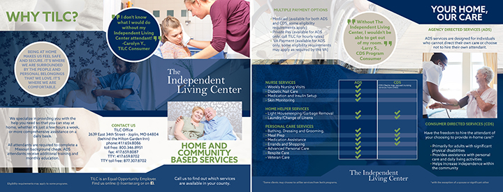 The Independent Living Center Brochure Graphic Design