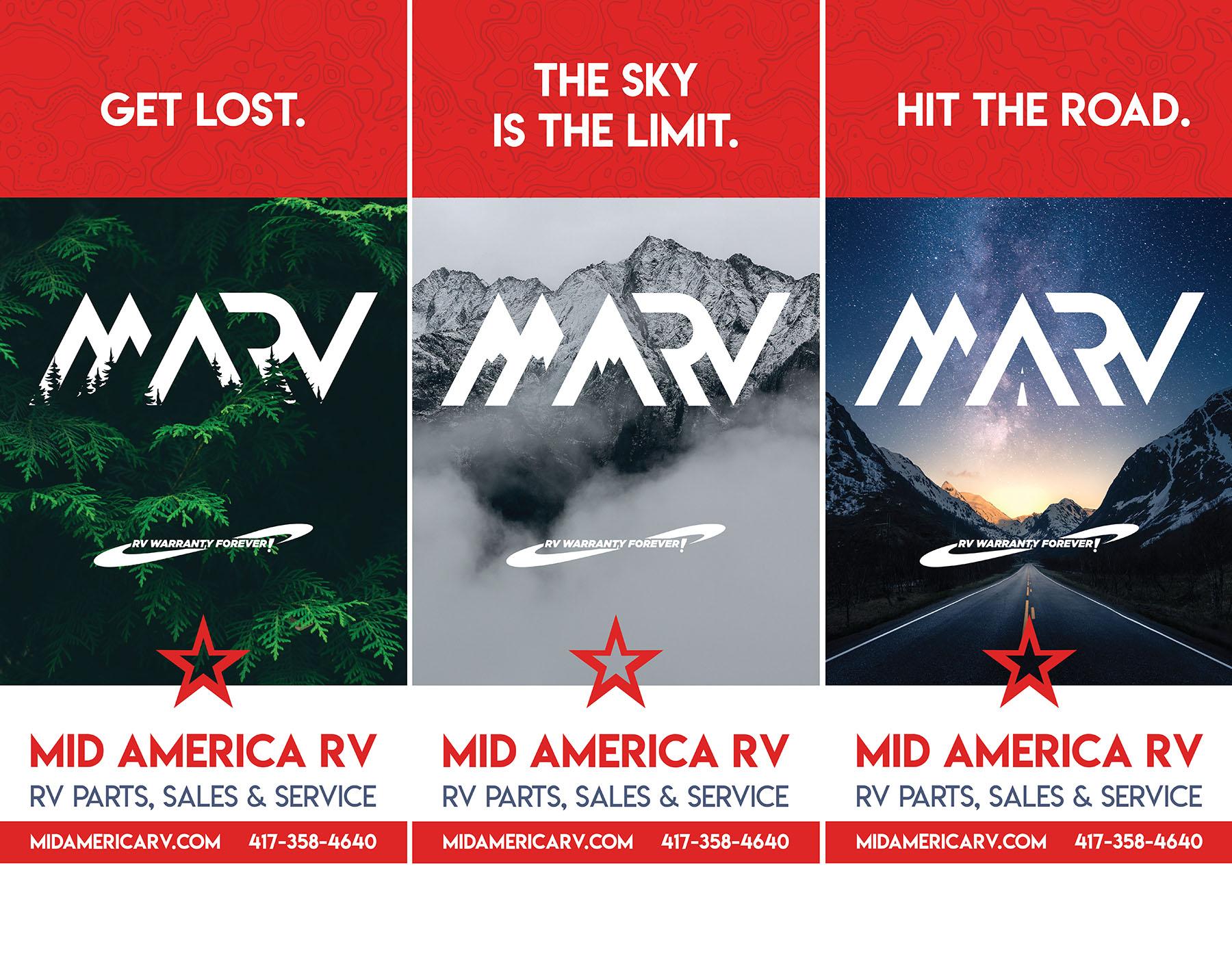 Mid America RV Popup Banners Graphic Design Joplin MO