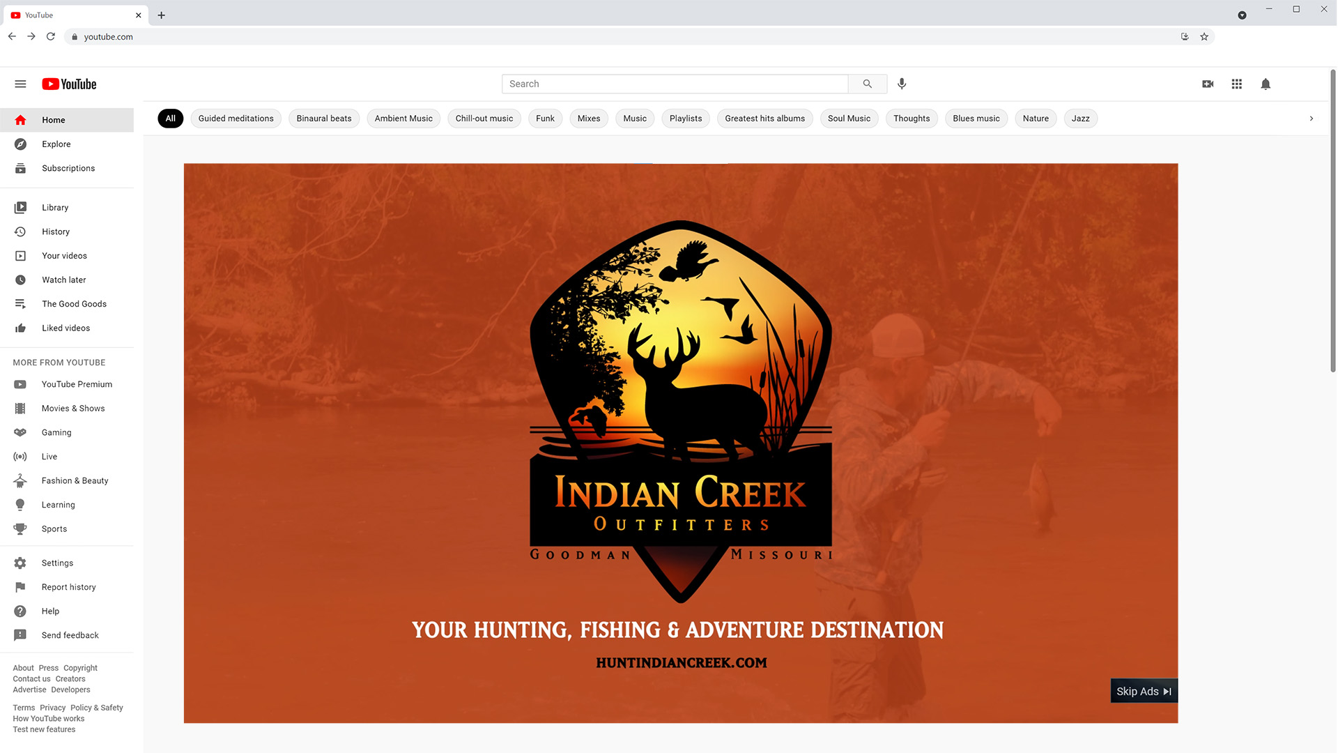 YouTube Ads Indian Creek Outfitters Digital Advertising