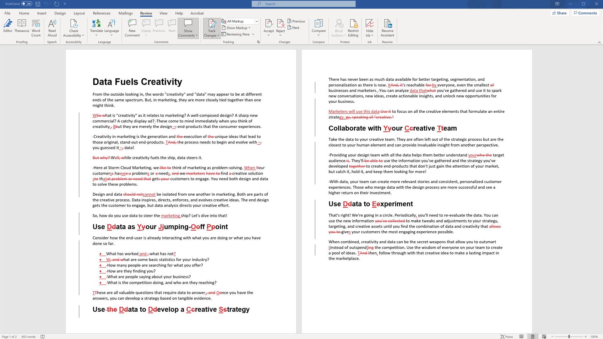 Blog Writing Editing