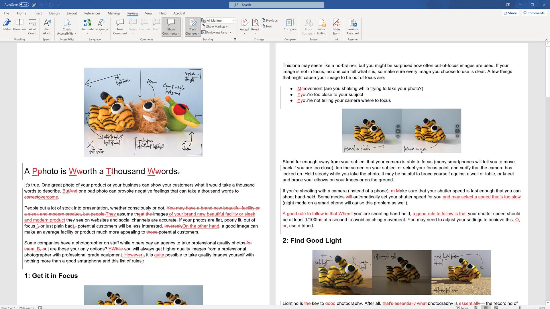 Blog Writing Edits