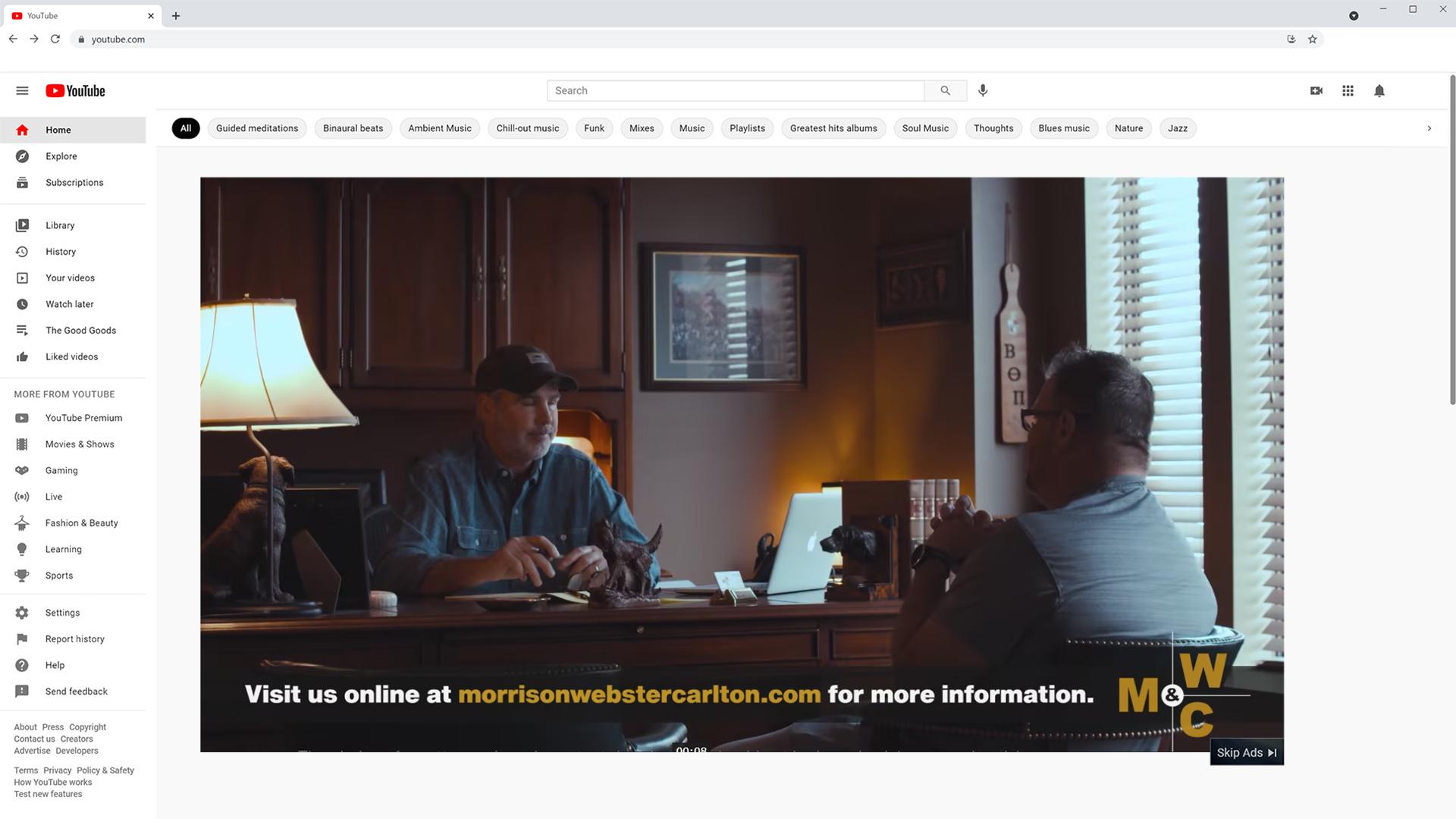 Morrison Webster Carlton YouTube Ad Digital Advertising