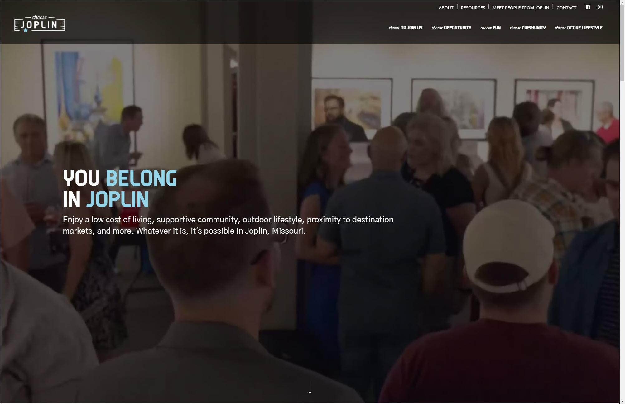 Choose Joplin Homepage Web Design