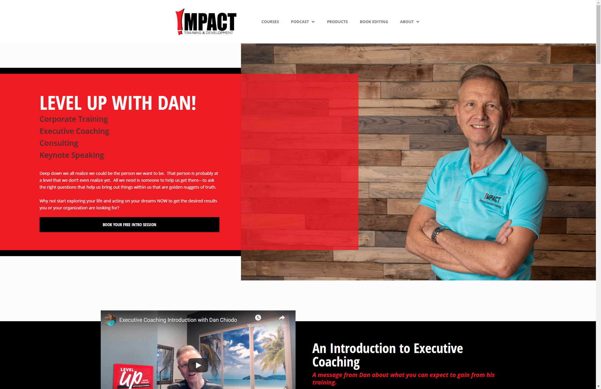 Impact by Dan Home Page Web Design Joplin Mo