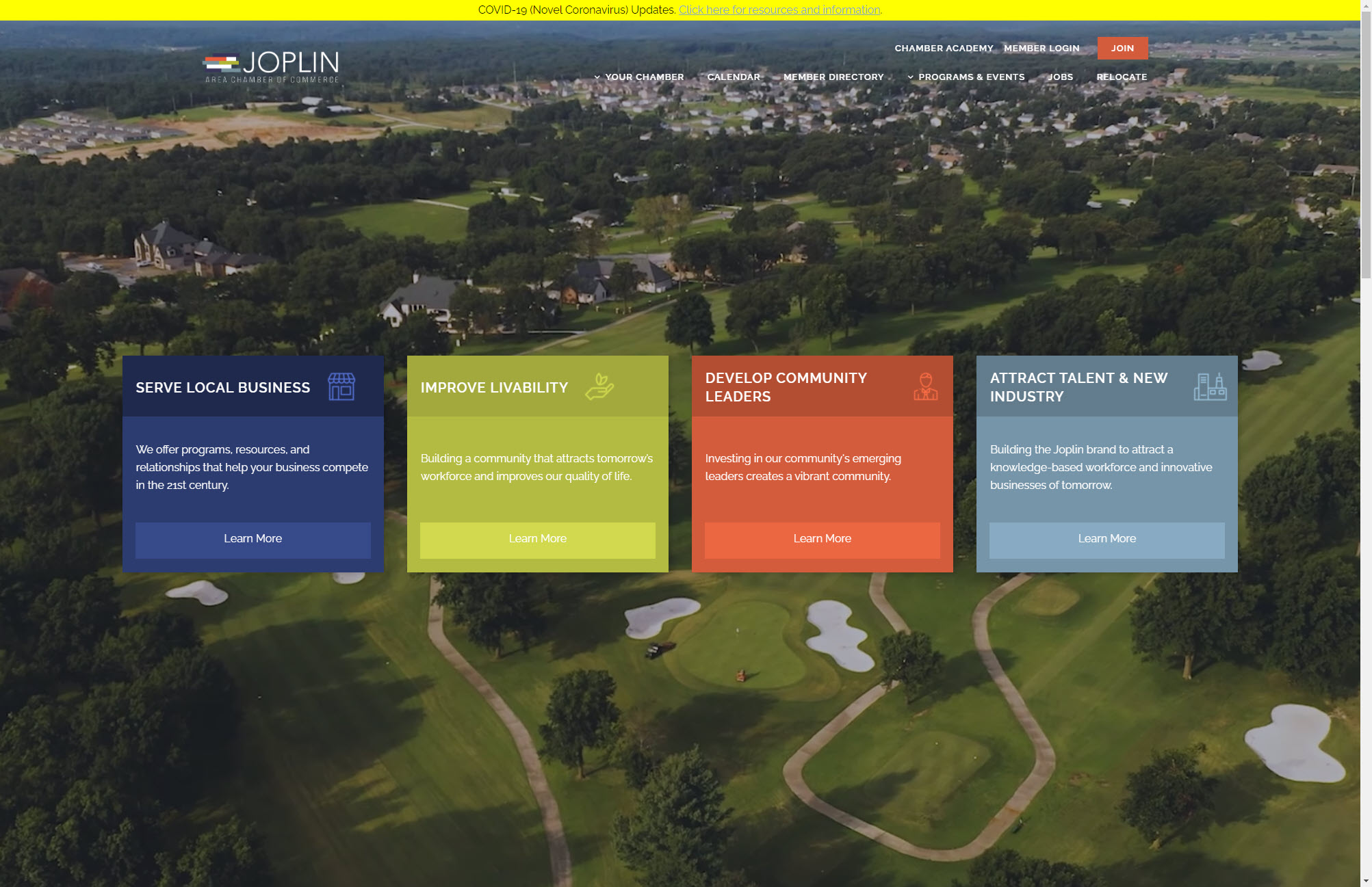 Joplin Chamber of Commerce Home Page Web Design Joplin Mo