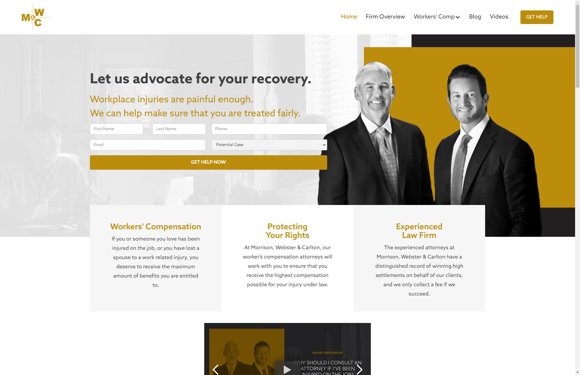 Morrison Webster Carlton Home Page Web Design Joplin Mo