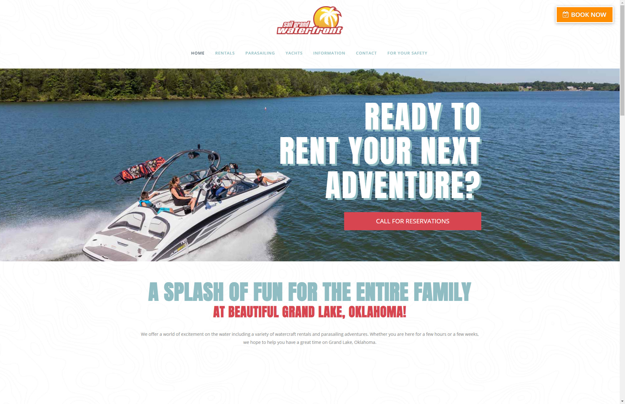 Sail Grand Website Design Joplin Mo
