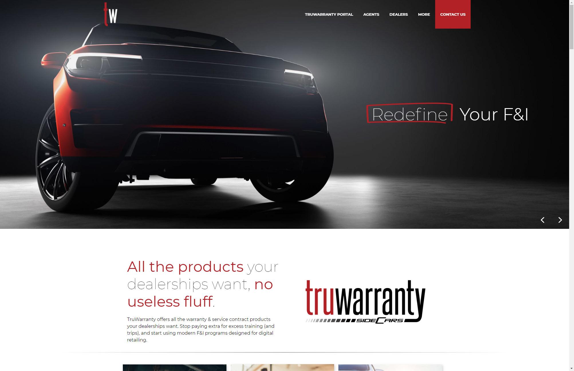 TruWarranty Home Page Web Design Joplin Mo