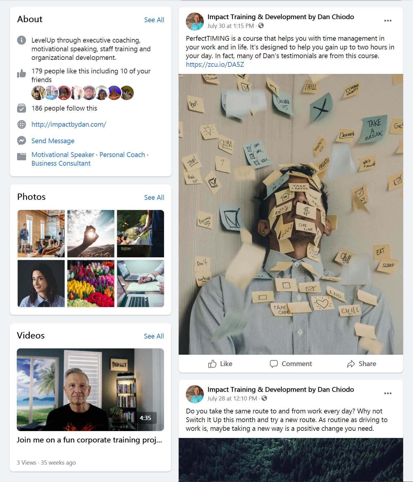 Impact by Dan Facebook Page Social Media Management