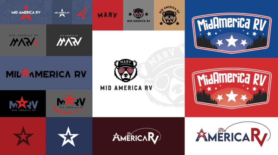Mid America RV Brand Development logo design Example