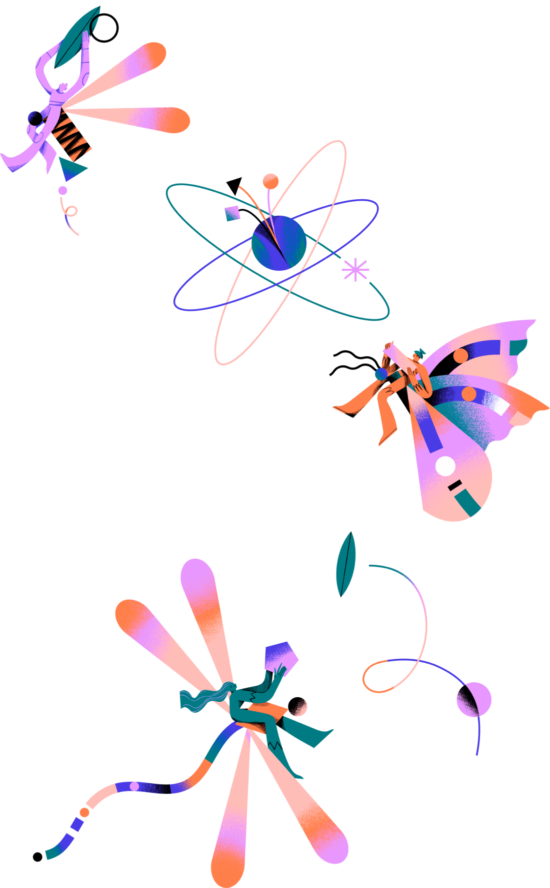people exploring in flower together