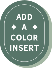 Add a color insert to triple thick cards