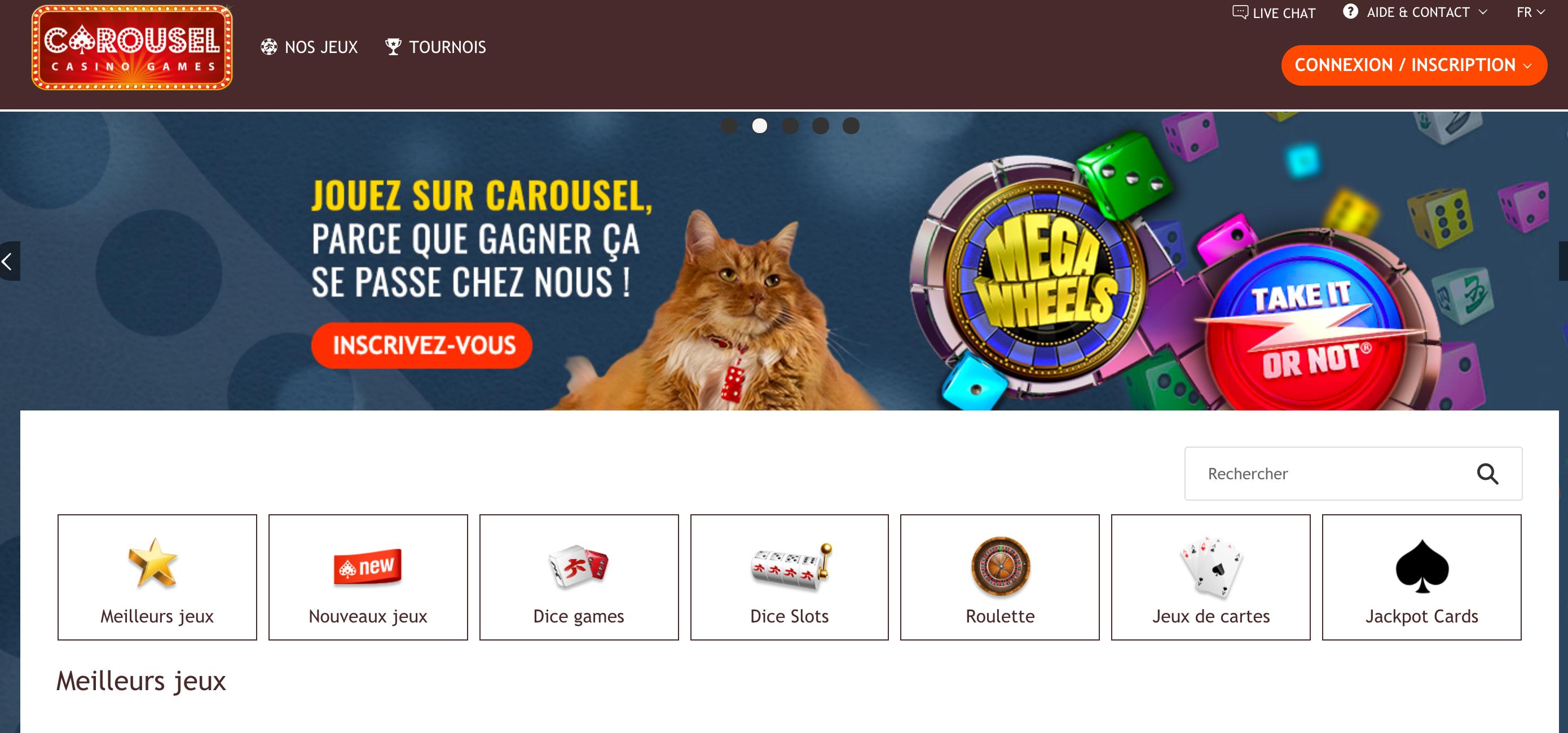 Carousel casino n ligne