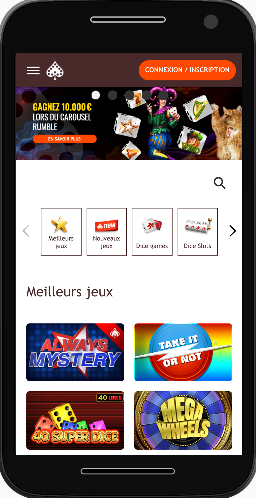 carousel casino en ligne mobile