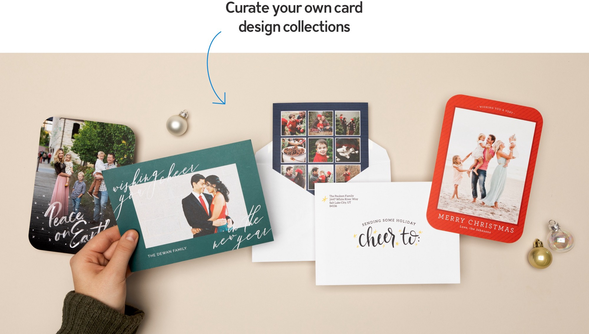 Curate your own card design collection