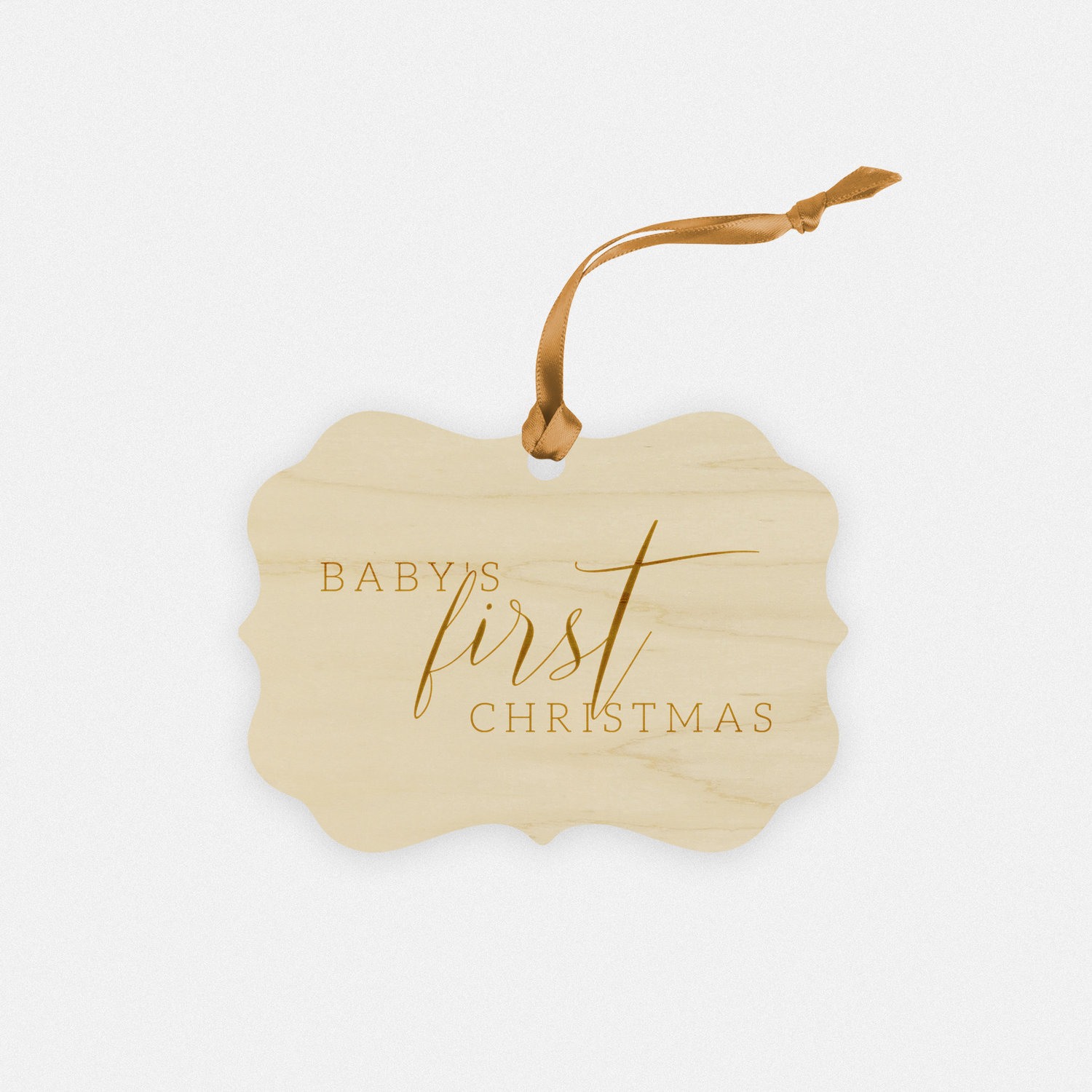 Baby's First Christmas Engraved Wood Ornament
