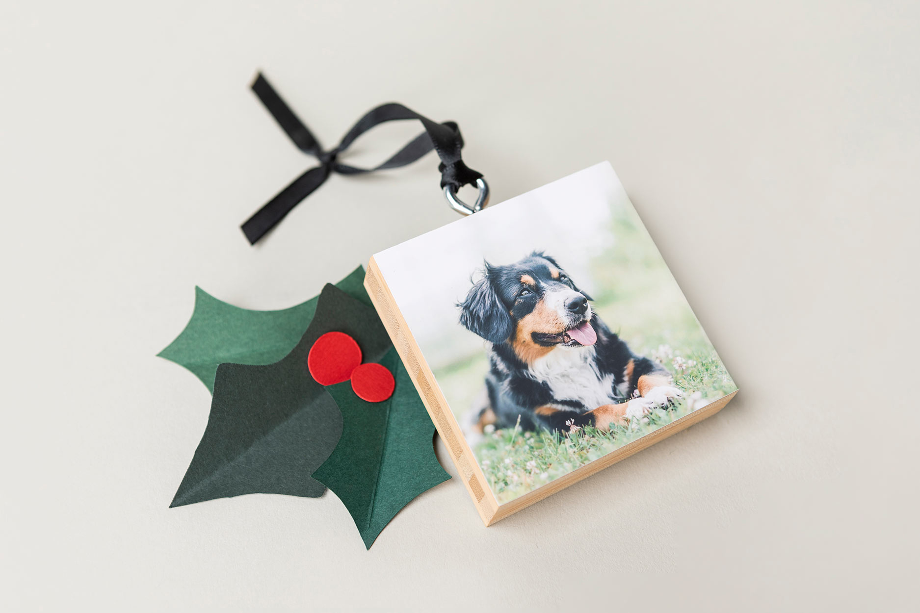 WHCC Bamboo Ornament with Dog Photography