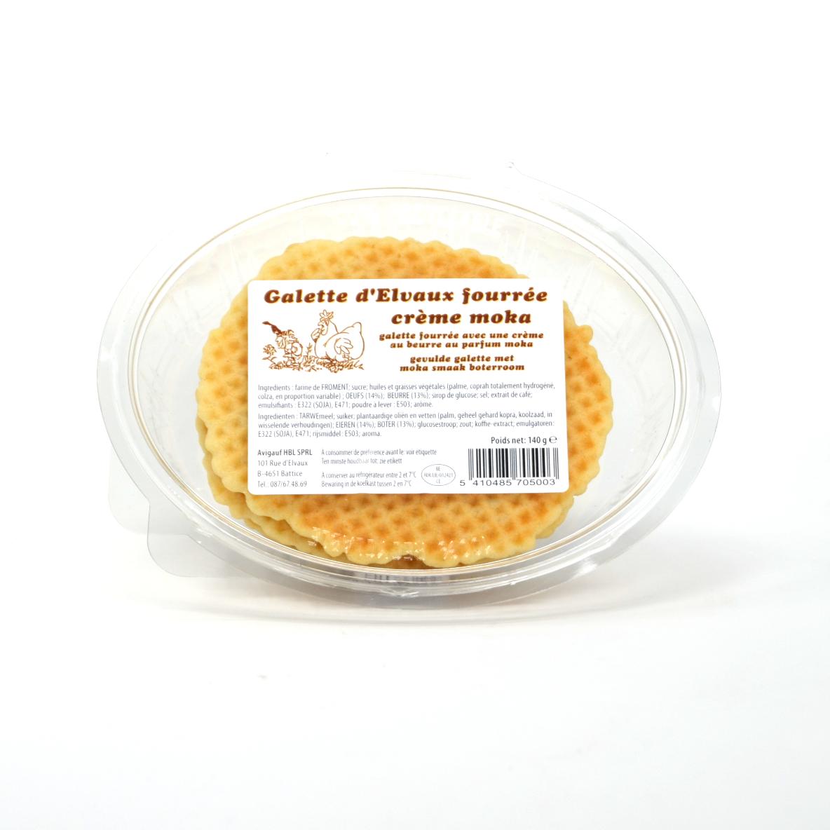Galettes fourrées moka 2p - ajouter crème