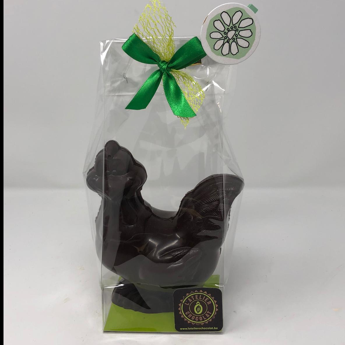 Poule de Pâques de taille moyenne au chocolat fondant