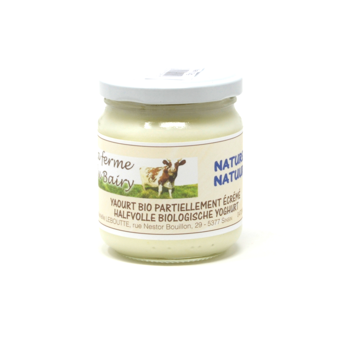 Yaourt lait de vache nature Bairy 20cl bio (hors vidange 0,25€)