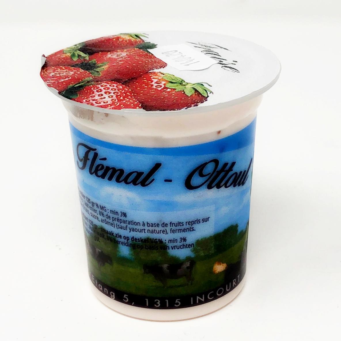 Yaourt fraise Flemal 125g