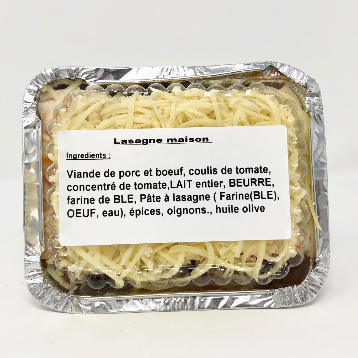 Lasagne bolognaise maison +/- 550g boucherie Corbeille