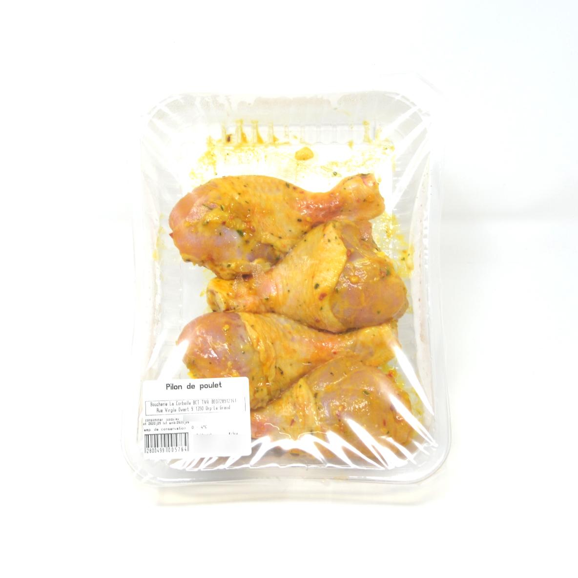 Pilons de poulet marinés 3 ou 4p. +/- 450g boucherie La Corbeille