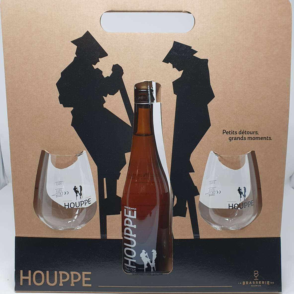 Pack Houppe 1 bouteille + 2 verres