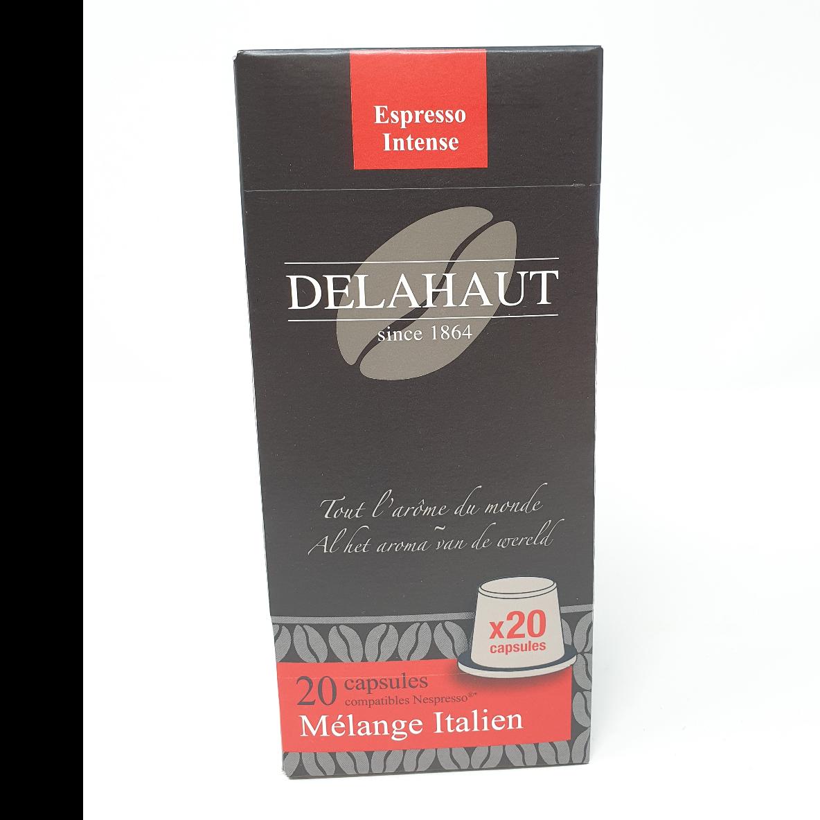 Café italien Delahaut 20 capsules