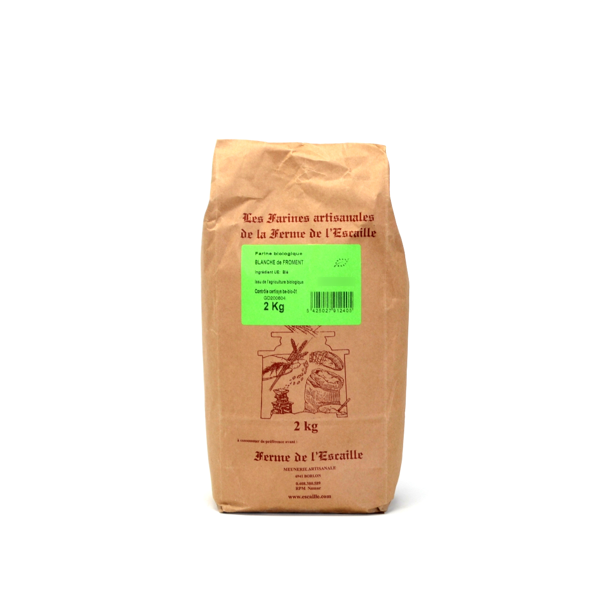 Farine blanche froment bio Escaille 2kg