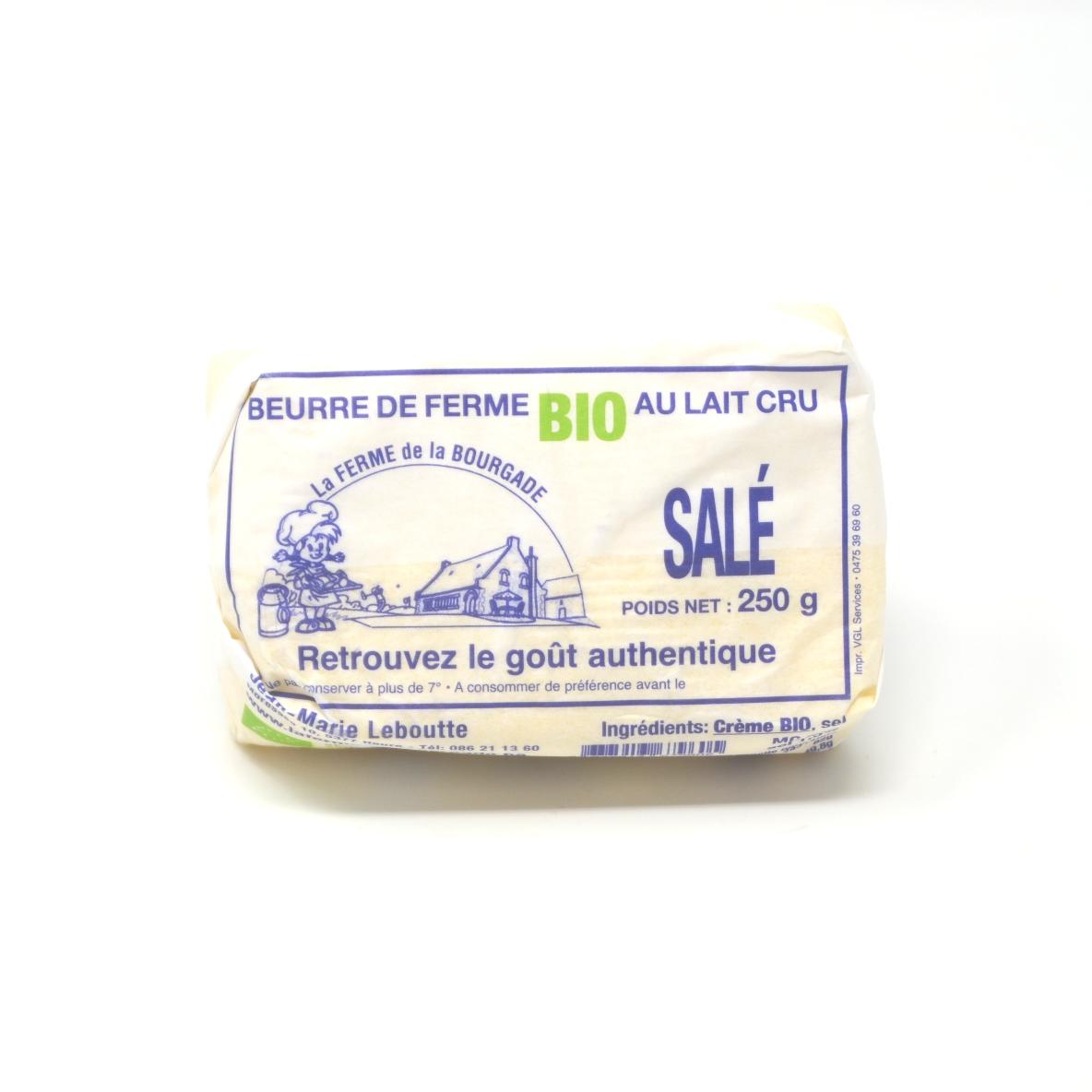 Beurre salé Bourgade bio 250g