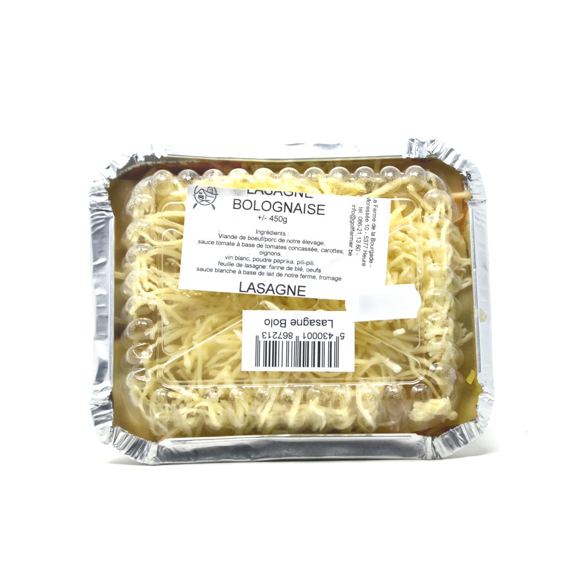 Lasagne bolognaise Ferme de la Bourgade +/- 450g Bio