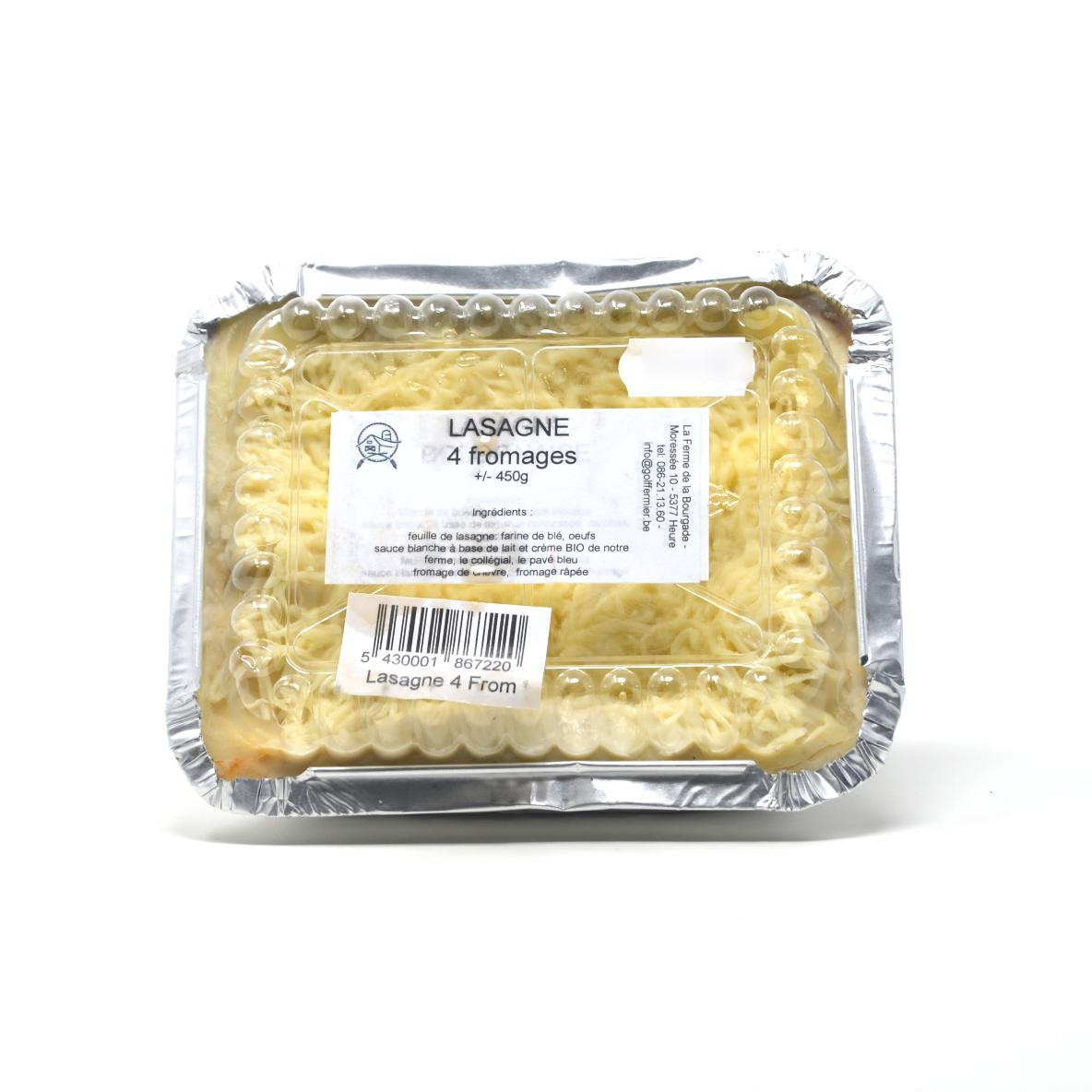 Lasagne 4 fromages Ferme de la Bourgade +/- 450g Bio
