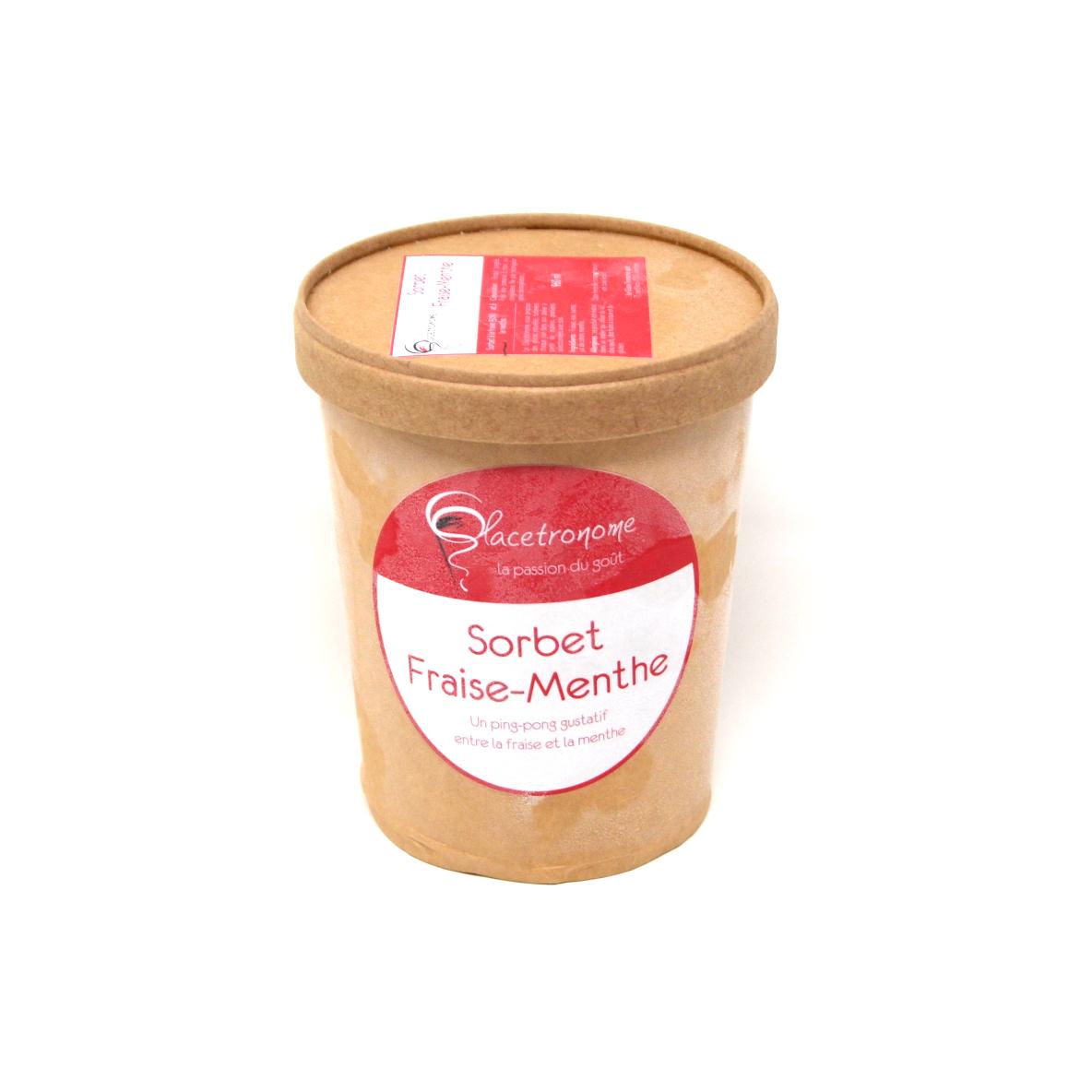 Sorbet fraise-menthe Glace tronome 1L