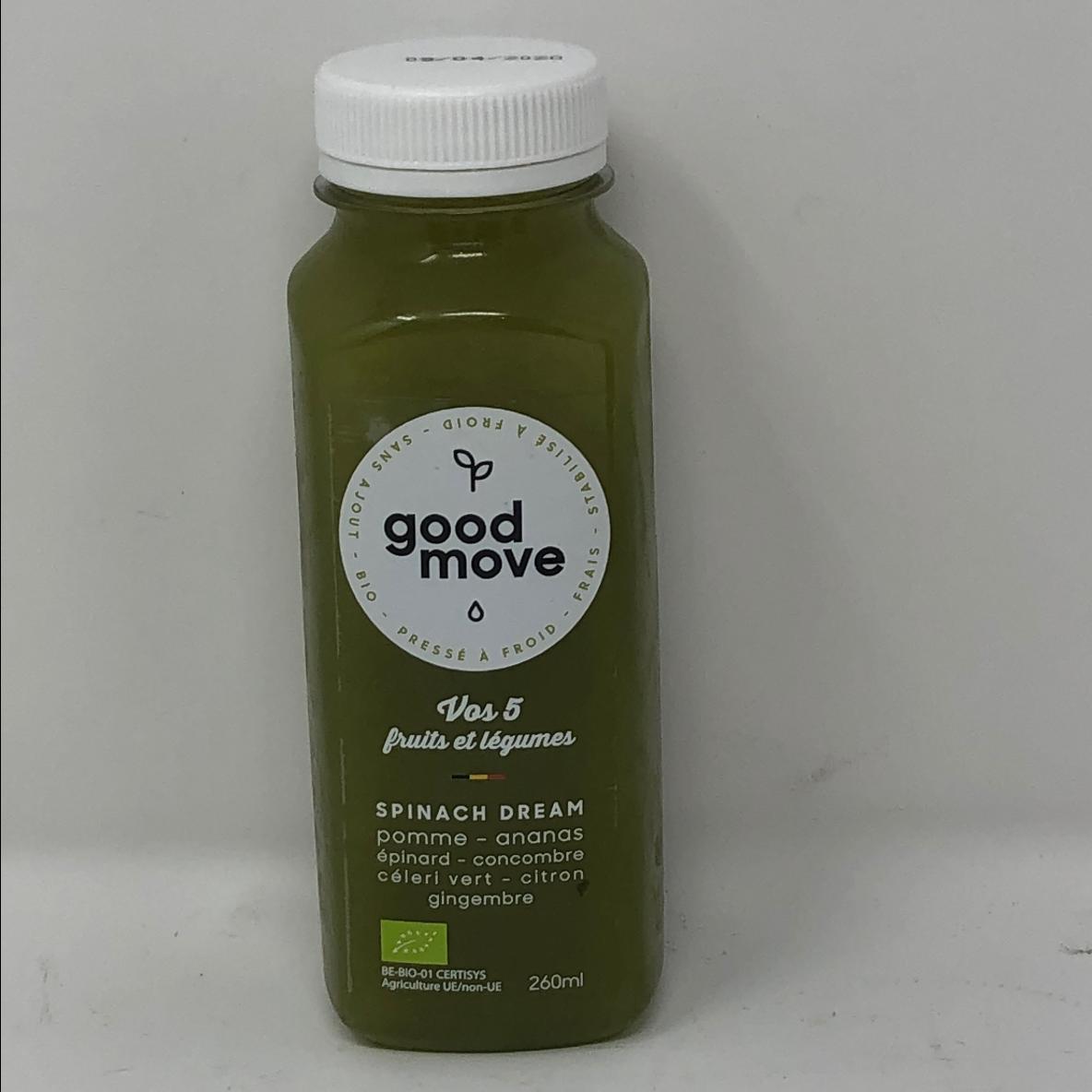 Spinach dream 260ml - jus  fruits & légumes frais et bio