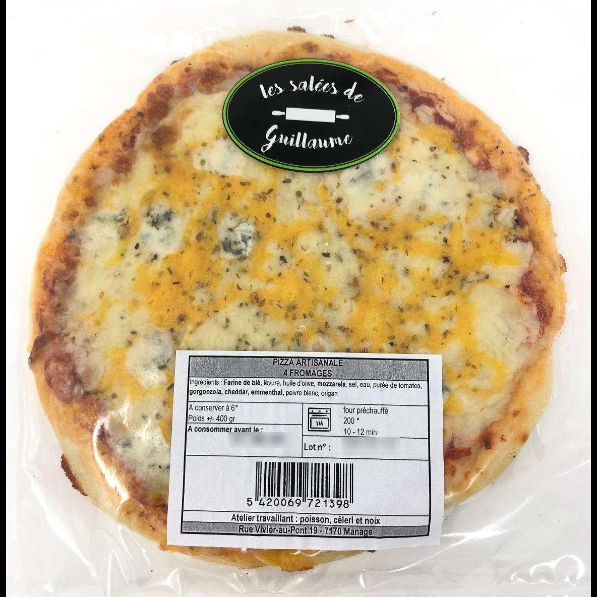 Pizza 4 fromages diamètre 23 cm