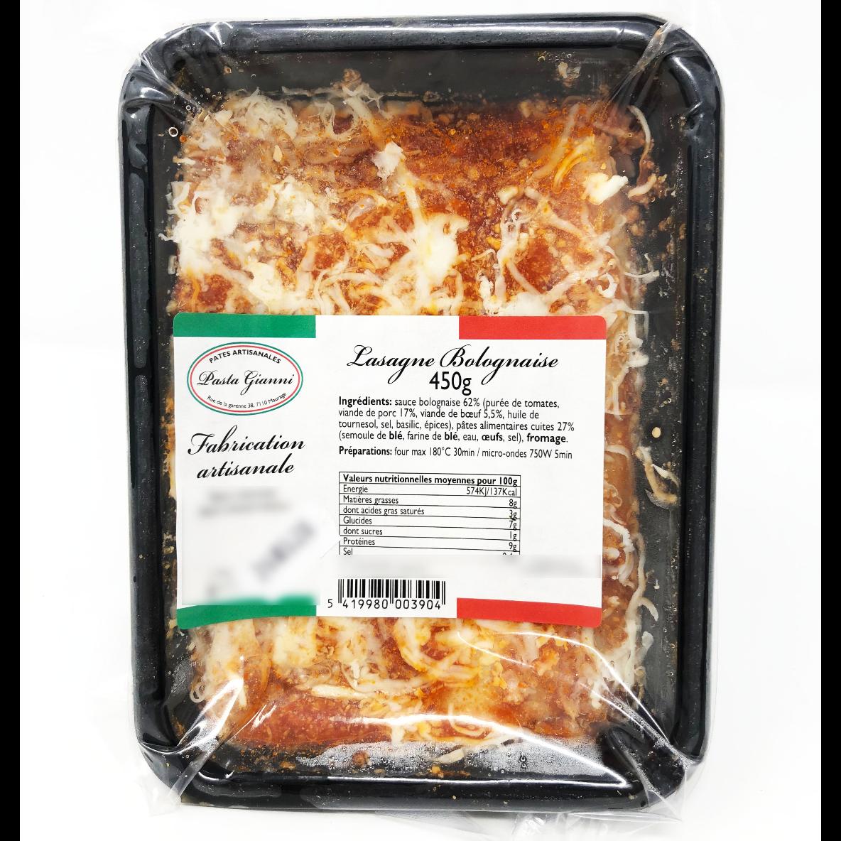 Lasagne bolognaise 450g