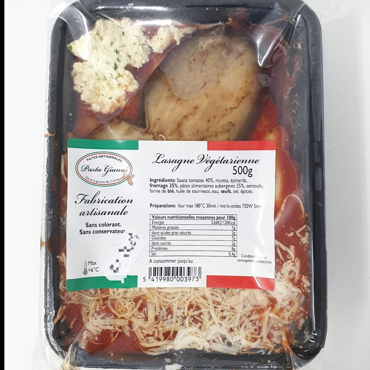 Lasagne végétarienne 500g